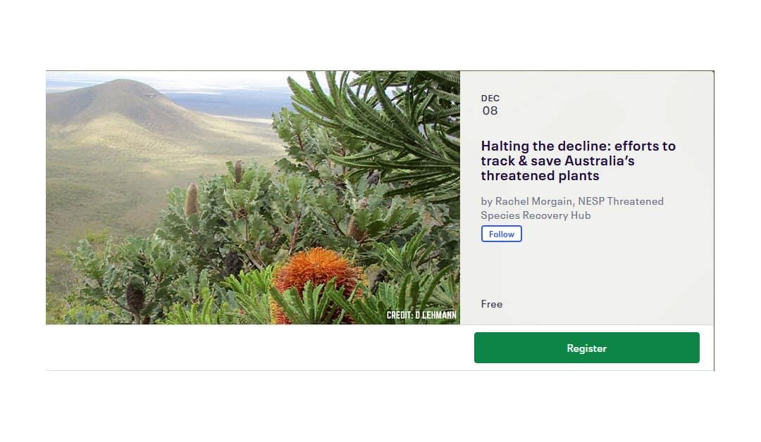 Threatened Plant Index webinar